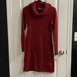 Athleta Cowl Neck Dress 100% merino wool